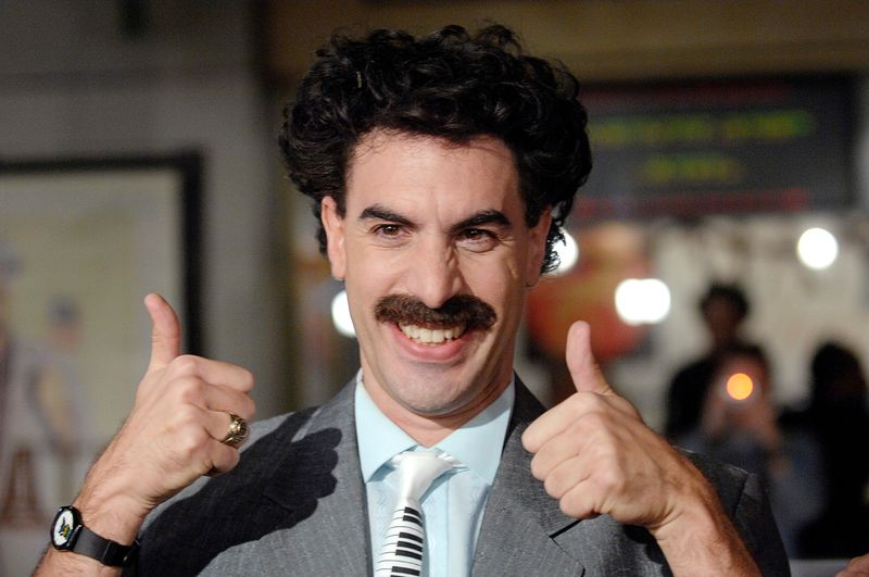 FILE PHOTO: Actor Sacha Baron Cohen arrives for premiere of