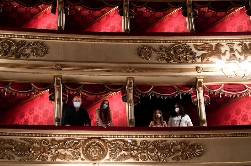 FILE PHOTO: Italy's La Scala opera house reopens to the public for the first time since the coronavirus disease (COVID-19) outbreak, in Milan