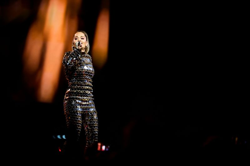 Rita Ora on stage at the Avicii Tribute Concert For Mental Health Awareness at Friends Arena in Stockholm