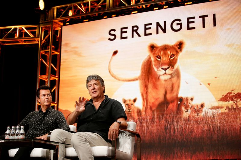 FILE PHOTO: Creator and producer Simon Fuller and director and producer John Downer participate in a panel for the Discovery Channel show
