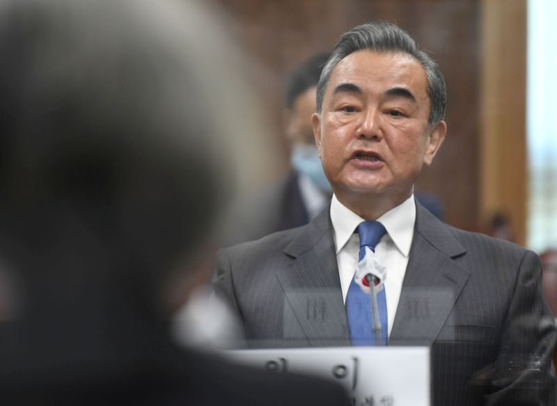 FILE PHOTO: Chinese Foreign Minister Wang Yi meets South Korean Foreign Minister Kang Kyung-wha in Seoul
