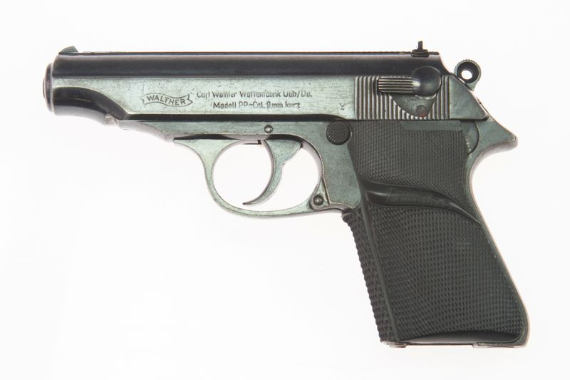 A semi-automatic Walther PP gun used by the late actor Sean Connery in the 1962 film