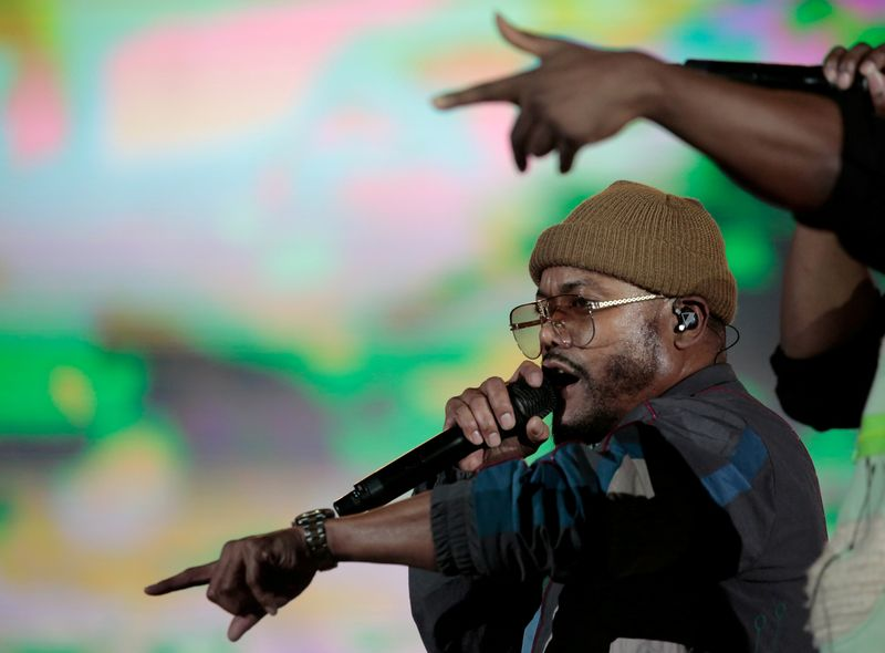 FILE PHOTO: Singer of The Black Eyed Peas apl.de.ap performs at the Rock in Rio music festival in Rio de Janeiro