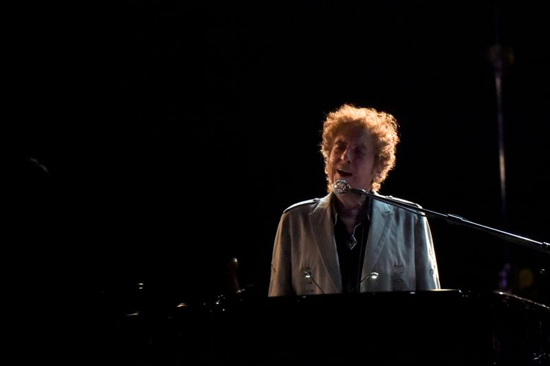 Bob Dylan performs during the Firefly Music Festival in Dover, Delaware