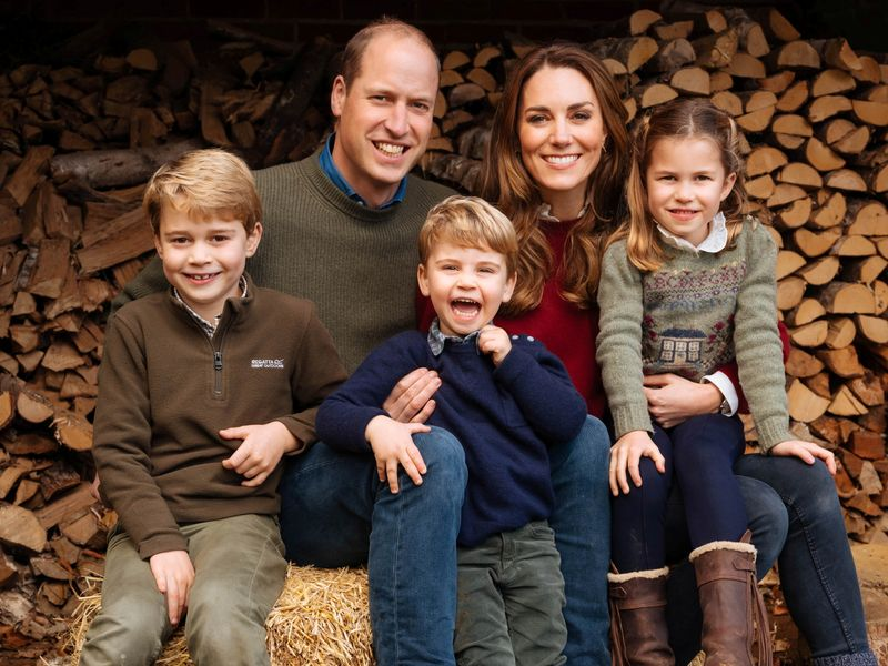 2020 Christmas card of Britain's Prince William, and Catherine, Duchess of Cambridge