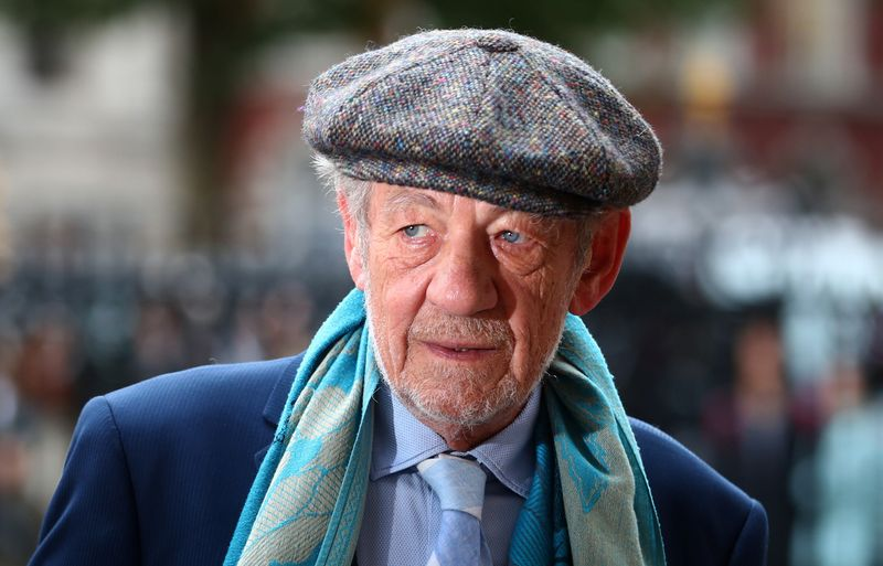 Actor Ian McKellen attends a Service of Thanksgiving for Sir Peter Hall at Westminster Abbey in London