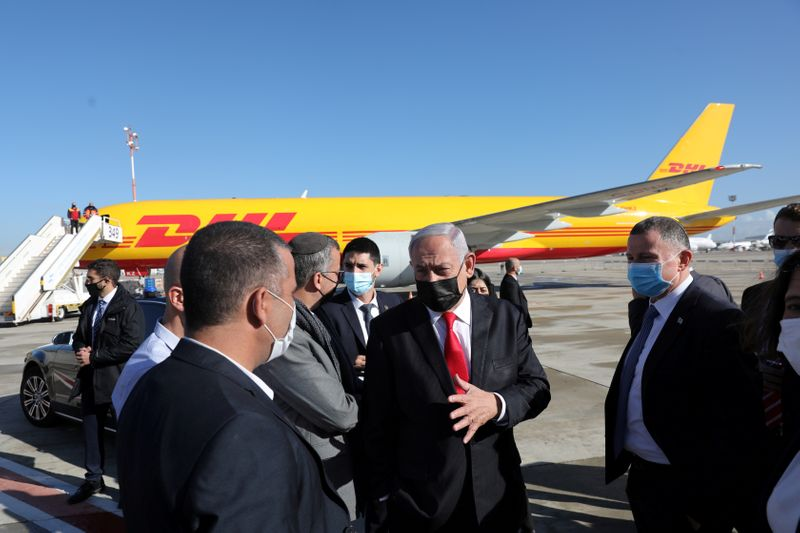 FILE PHOTO: First batch of Pfizer/BioNTech COVID-19 vaccine arrives at Ben Gurion Airport