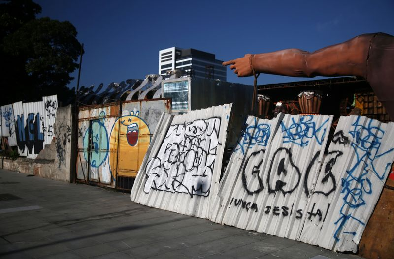 An abandoned warehouse is seen in the port area in Rio de Janeiro
