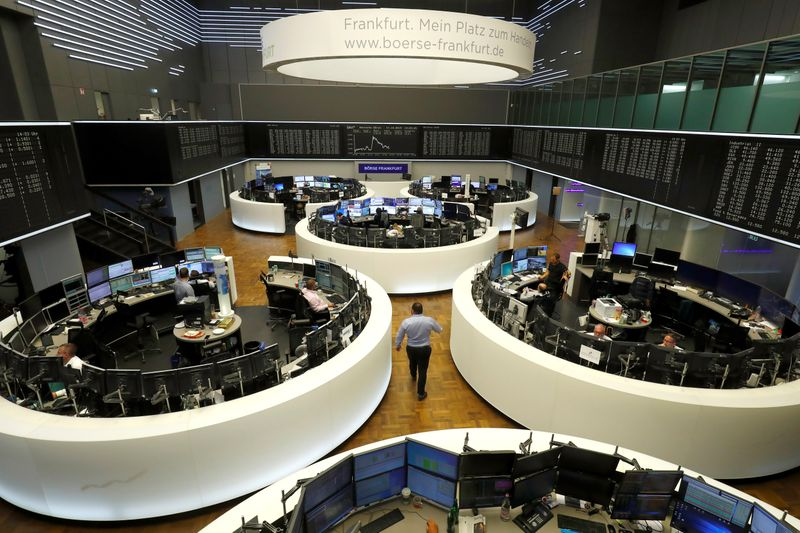FILE PHOTO: Frankfurt's stock exchange in Frankfurt reacts on agreed Brexit deal