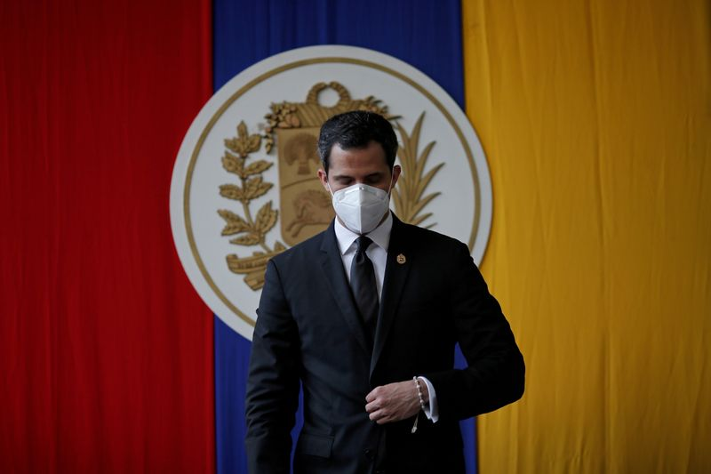 FILE PHOTO: Venezuelan opposition leader Guaido attends a session of Venezuela's National Assembly in Caracas