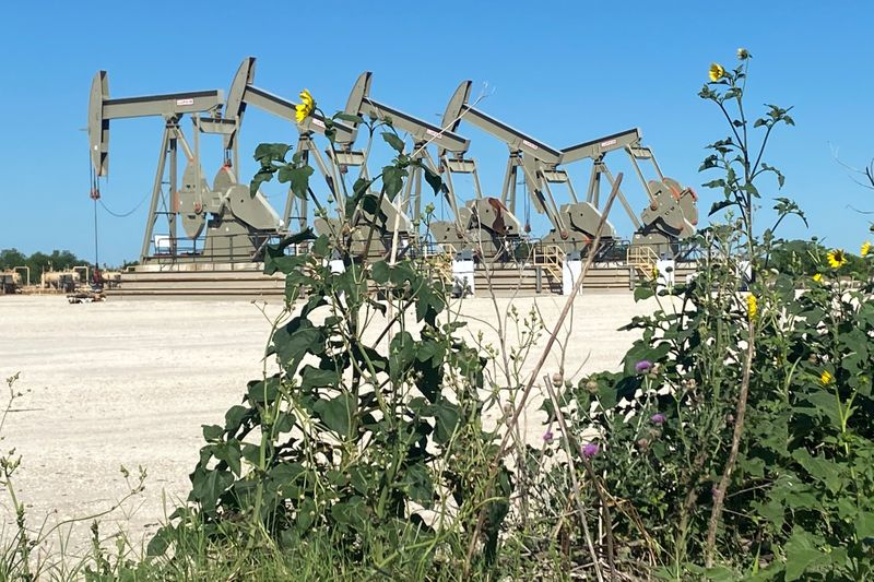 FILE PHOTO: A Marathon Oil well site is seen in the Eagle Ford Shale oil field in south Texas