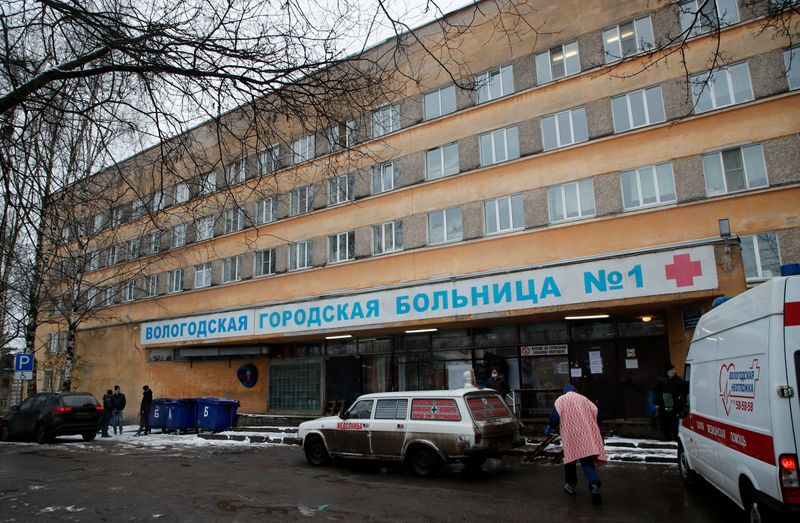FILE PHOTO: Hospital for COVID-19 patients in Vologda