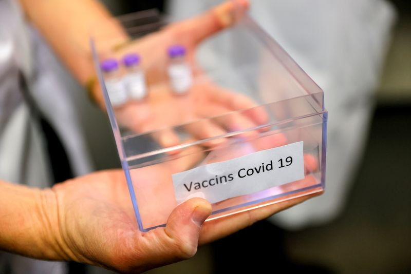 First doses of the Pfizer-BioNTech COVID-19 vaccine in France are given in Sevran
