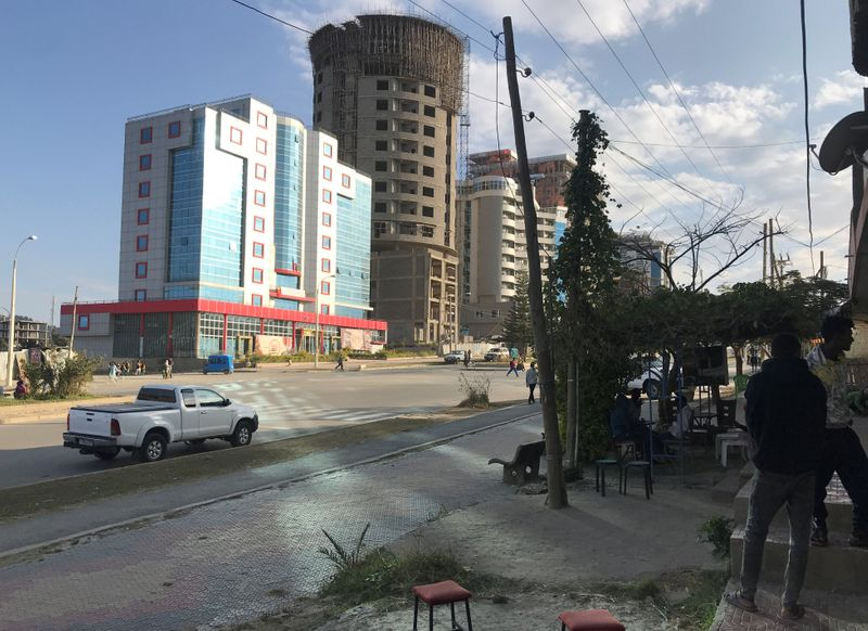 FILE PHOTO: A view shows a street in Mekelle