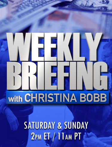 Weekly Briefing with Christina Bobb, Saturday and Sunday at 2pm ET/ 11am PT