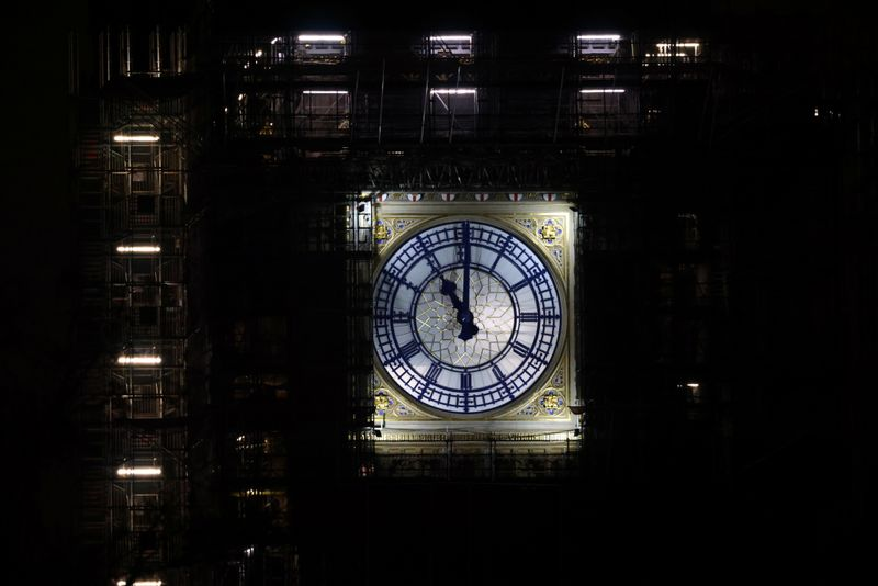 A view of Big Ben in London as Britain formally exits the EU