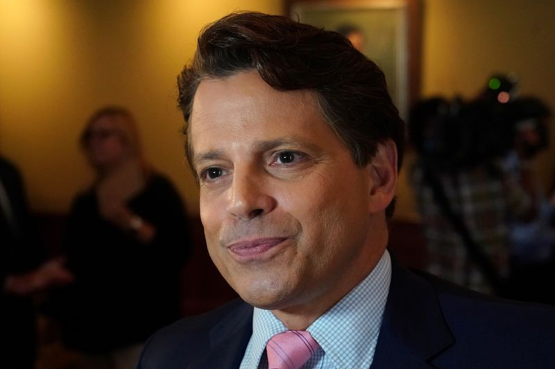 FILE PHOTO: Former White House communications director Scaramucci is pictured following a preview for the off-Broadway show 'Trump Family Special' in New York City