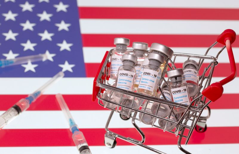 FILE PHOTO: A small shopping basket filled with vials labeled