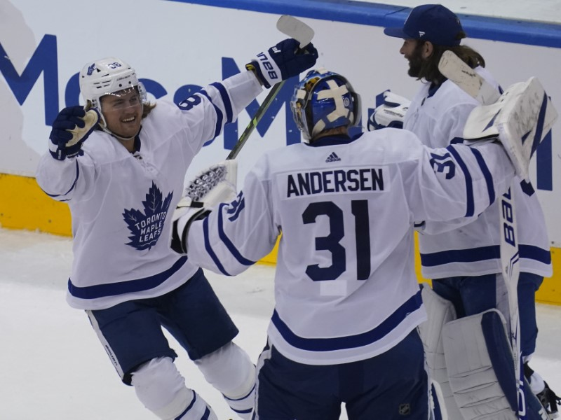 NHL: Eastern Conference Qualifications-Toronto Maple Leafs at Columbus Blue Jackets