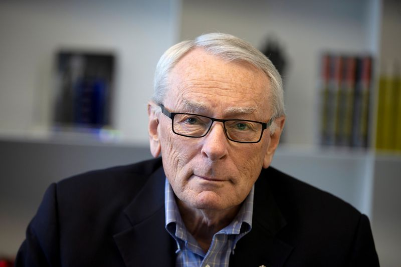 FILE PHOTO: International Olympic Committee (IOC) member Dick Pound poses in his office in Montreal, Quebec, Canada