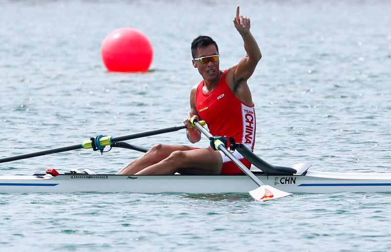 FILE PHOTO: Rowing - 2018 Asian Games - Men's Single Sculls