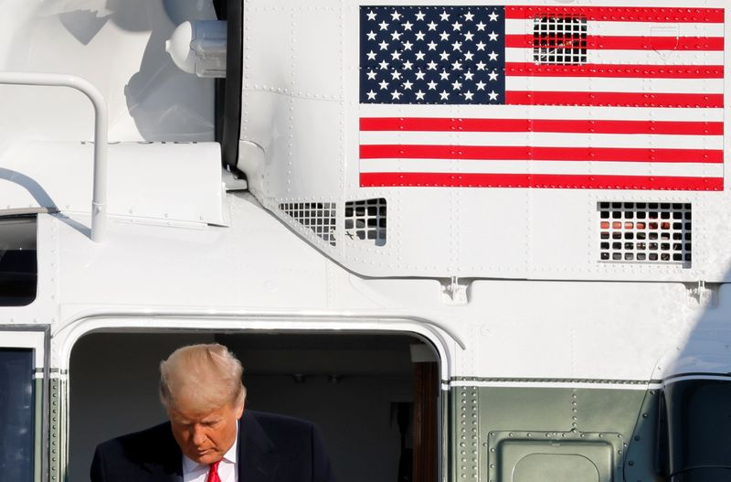 U.S. President Trump departs Washington on travel to Texas at Joint Base Andrews in Maryland
