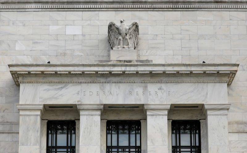 FILE PHOTO: The Federal Reserve building is pictured in Washington, DC
