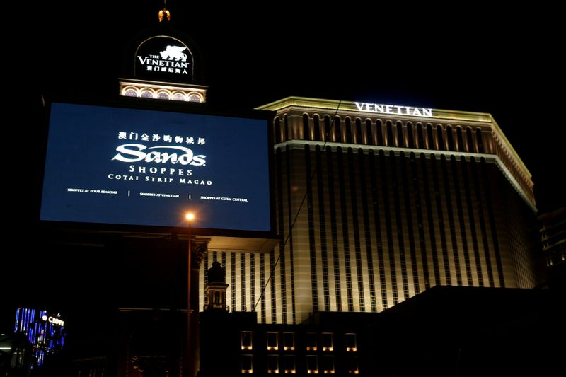 FILE PHOTO: An exterior view of the Venetian Macao, part of Sands China Ltd's development in Macau