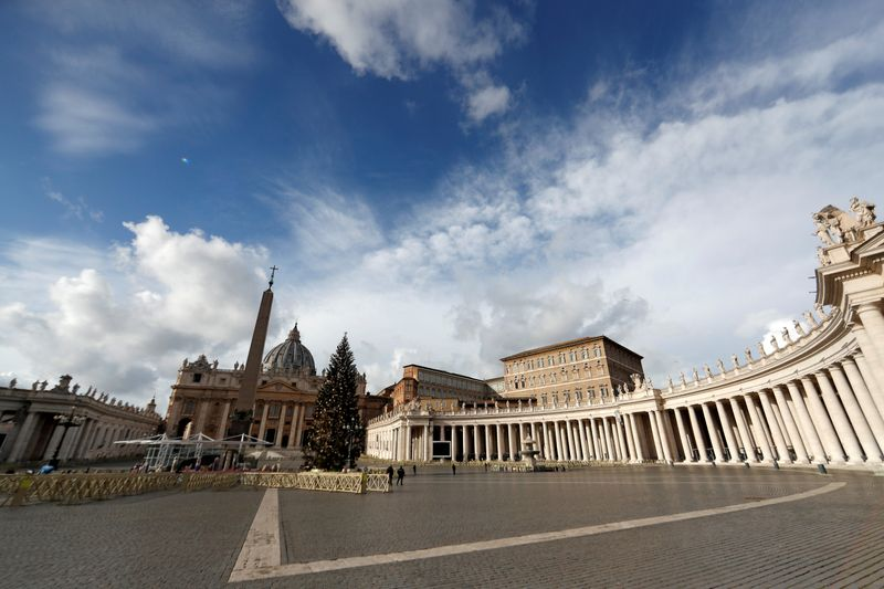 FILE PHOTO: View of St. Peter's Square on Christmas Day at the Vatican