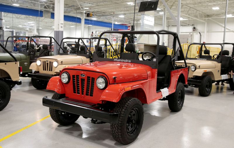 FILE PHOTO: ROXOR off-road vehicles are seen in the Mahindra Automotive North America assembly plant in Auburn Hills Michigan,
