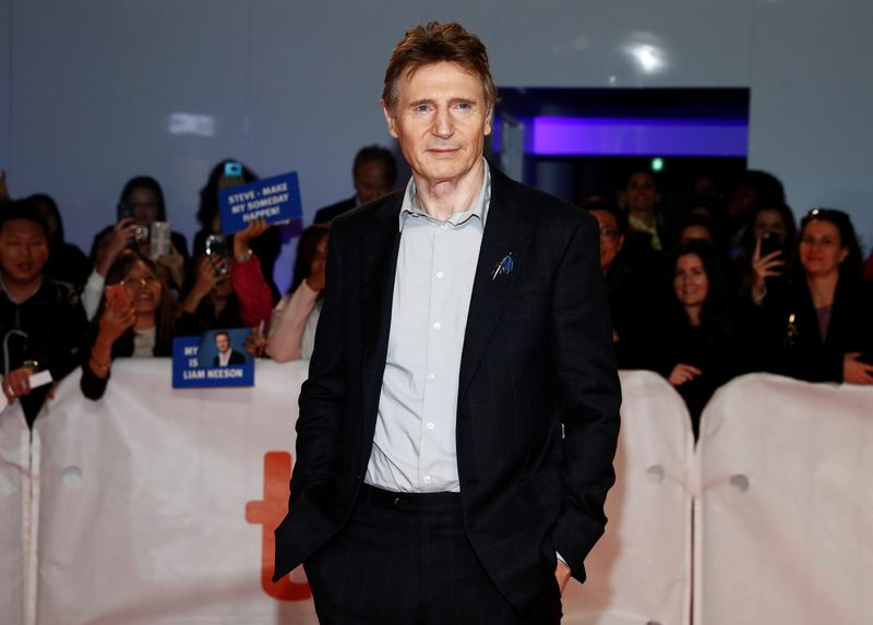 Actor Liam Neeson arrives for the world premiere of Widows at the Toronto International Film Festival (TIFF) in Toronto