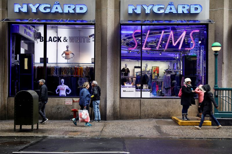 FILE PHOTO: The flagship store of fashion executive and designer Peter Nygard is seen closed near Times Square in New York