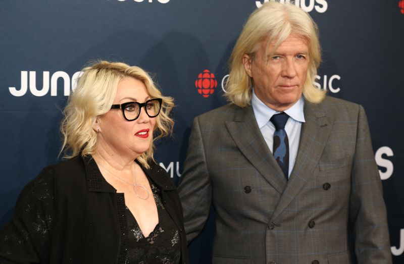 Rock and Arden arrive for the 2018 Juno Awards in Vancouver
