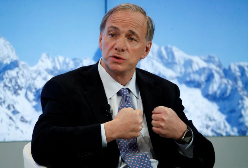FILE PHOTO: FILE PHOTO: Ray Dalio, Founder, Co-Chief Executive Officer and Co-Chief Investment Officer, Bridgewater Associatesr attends the annual meeting of the World Economic Forum (WEF) in Davos