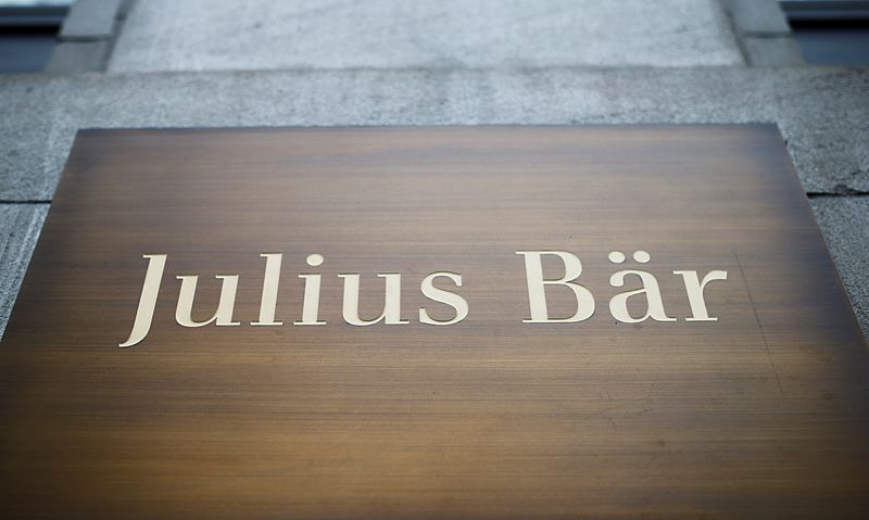 The logo of Swiss private bank Julius Baer is seen in Zurich