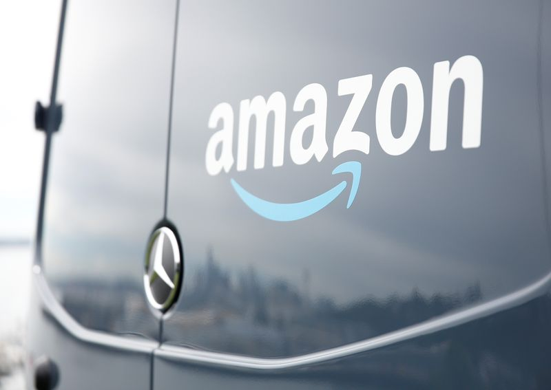 An Amazon Prime van during a press conference announcing Amazon.com's new program to help entrepreneurs build businesses delivering Amazon packages in Seattle