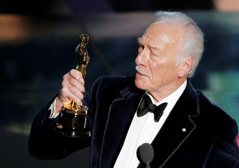 FILE PHOTO: Plummer, accepts the Oscar for best supporting actor  for his role in