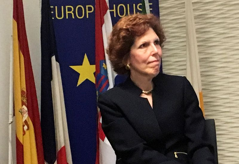 FILE PHOTO: Cleveland Federal Reserve Bank President Loretta Mester speaks in London