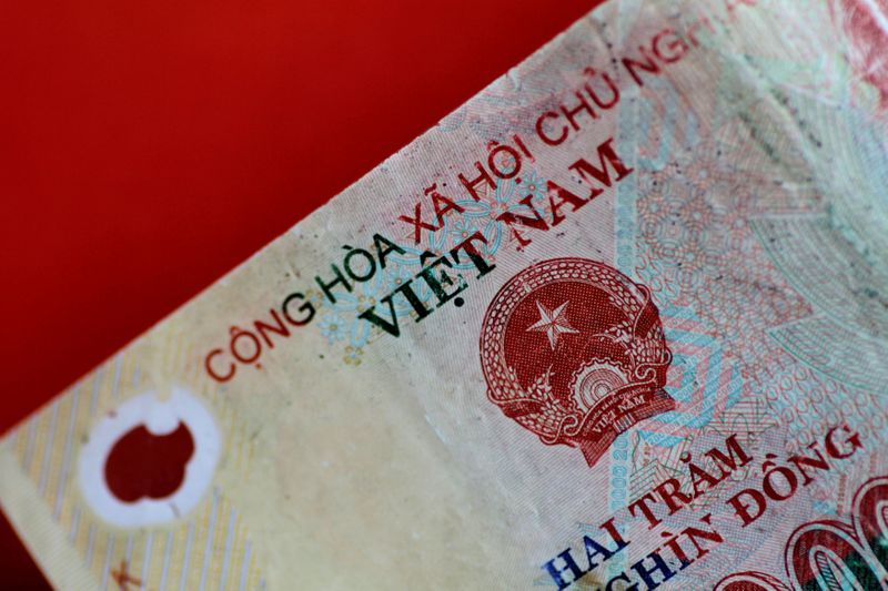 FILE PHOTO: Illustration photo of a Vietnam Dong note