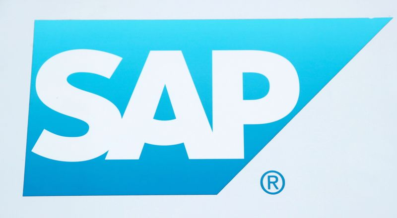 FILE PHOTO: The logo of German software group SAP is pictured in Regensdorf