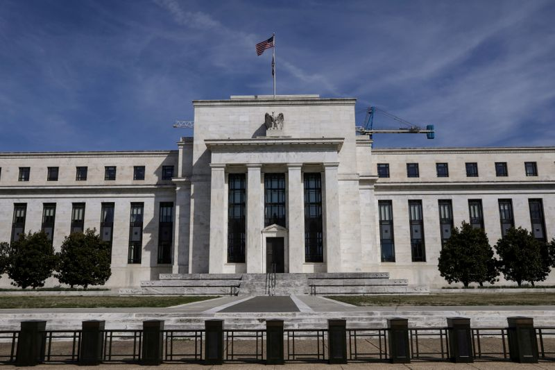 FILE PHOTO: The Federal Reserve Board building is pictured in Washington