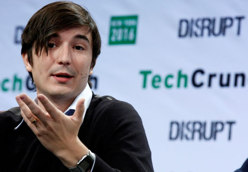 FILE PHOTO: Vlad Tenev, co-founder and co-CEO of investing app Robinhood, speaks during the TechCrunch Disrupt event in Brooklyn borough of New York