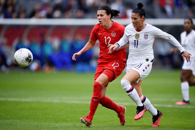 FILE PHOTO: Soccer: CONCACAF Women's Olympic Qualifying-Canada at USA