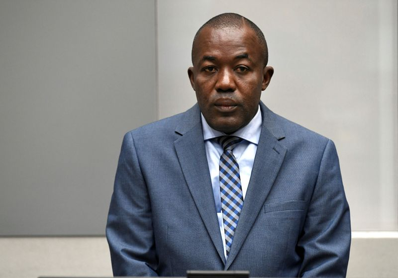FILE PHOTO: War crimes suspect Alfred Yekatom appears before the International Criminal Court in The Hague