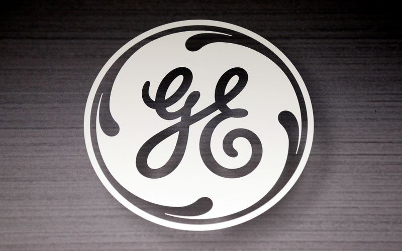 FILE PHOTO: The General Electric logo is seen in a Sears store in Schaumburg