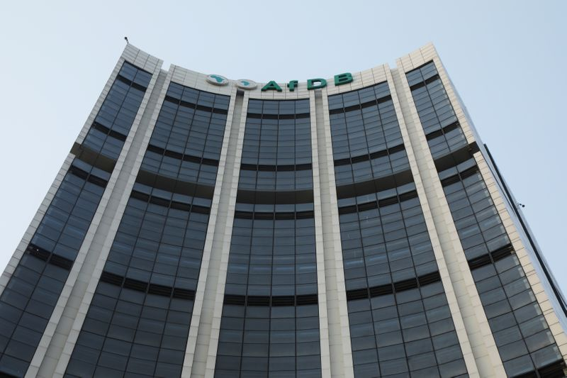 FILE PHOTO: The headquarters of the African Development Bank (AfDB) are pictured in Abidjan, Ivory Coast
