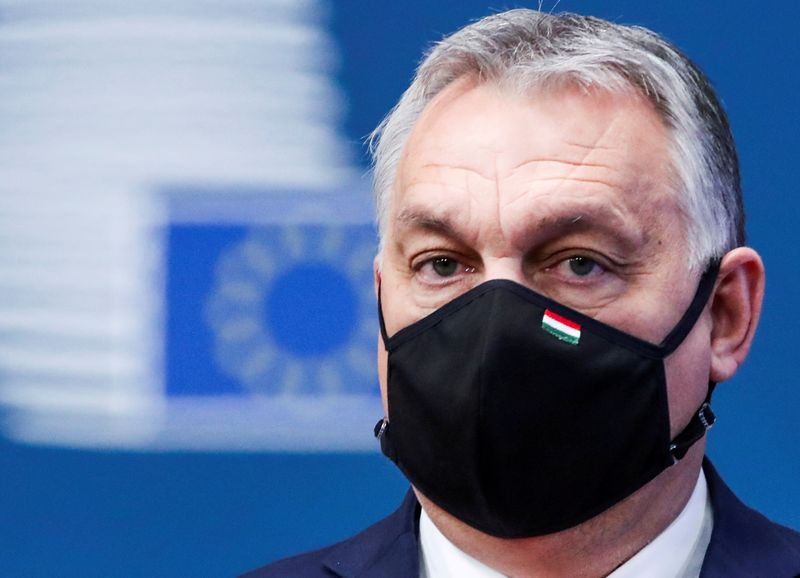 FILE PHOTO: Hungarian Prime Minister Viktor Orban arrives for an EU summit in Brussels