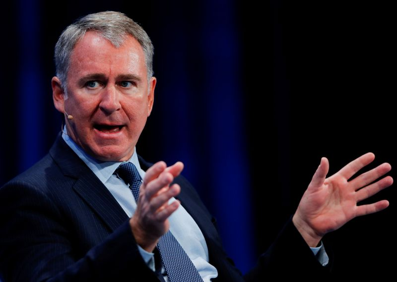 FILE PHOTO: Ken Griffin, Founder and CEO, Citadel, speaks during the Milken Institute's 22nd annual Global Conference in Beverly Hills, California