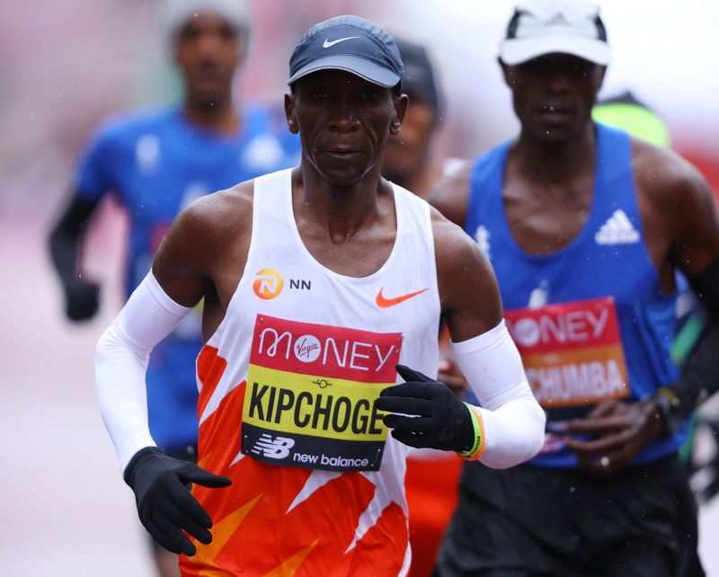 FILE PHOTO: Kenya's Eliud Kipchoge during the London Marathon