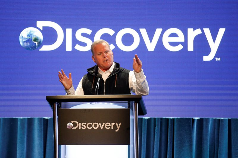 President and CEO of Discovery David Zaslav speaks during the Discovery portion of the Television Critics Association (TCA) Summer Press Tour in Beverly Hills